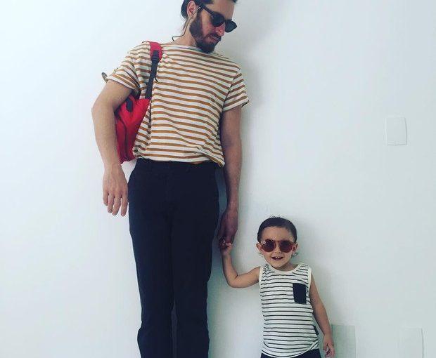Tainá Muller exibe o 'look do dia' do filho e marido em um show de fofura